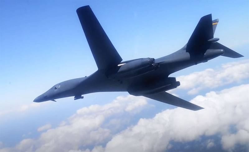 Strategic bombers B-1B Lancer the US air force made the first flight over Sweden