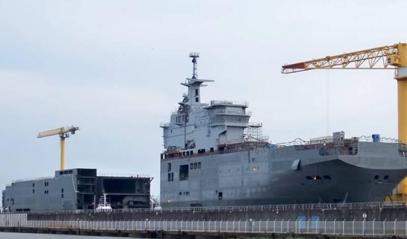 签订了为俄罗斯海军建造两艘UDC的合同