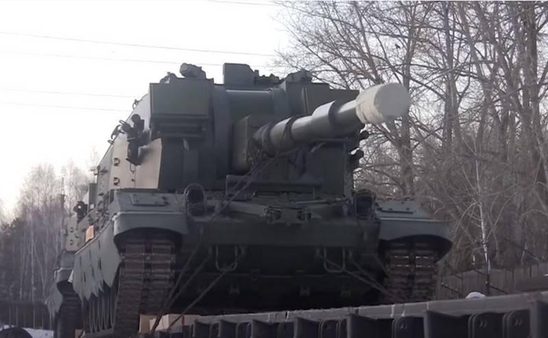 """Le groupe de canons automoteurs """"Coalition-SV"""" est entré en service avec les forces terrestres"""