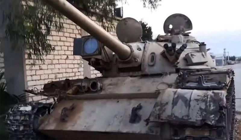 No PNS da Líbia, foram registradas perdas de tanques sofridas pelas forças de Haftar