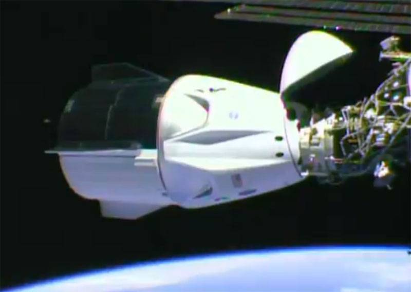 The break lasted 9 years. U.S. spacecraft with astronauts docked to ISS