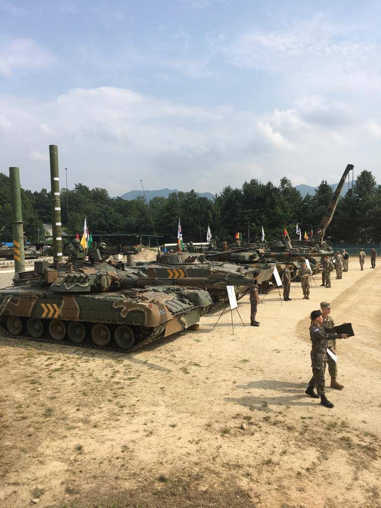 Russian armored vehicles in the South Korean army