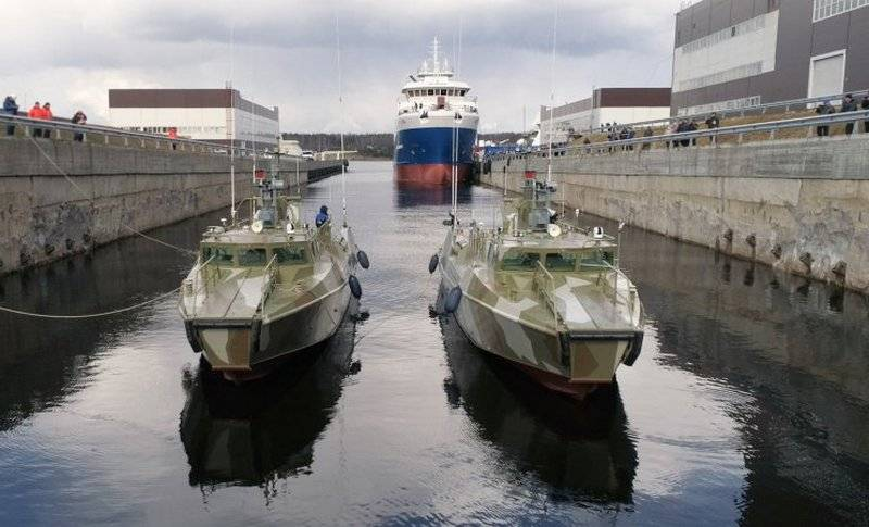 "Two patrol boats of project 03160 ""Raptor"" went to the test"