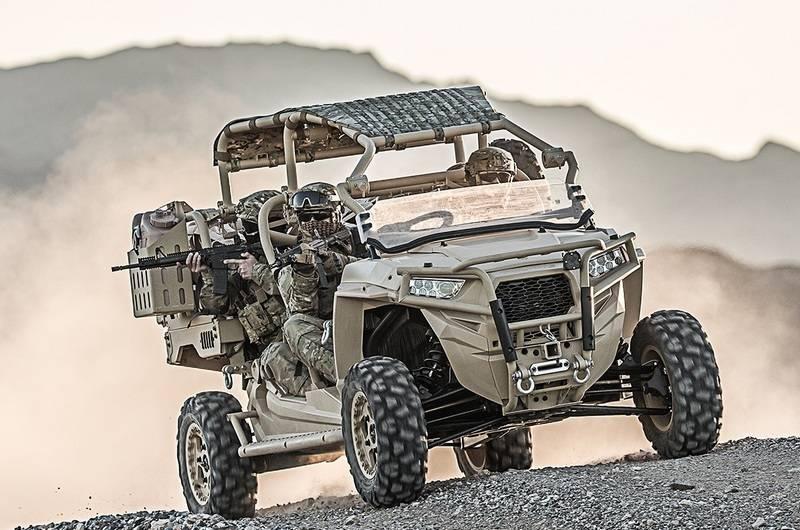 Forças de operações especiais dos EUA encomendam novo buggy Polaris MRZR Alpha
