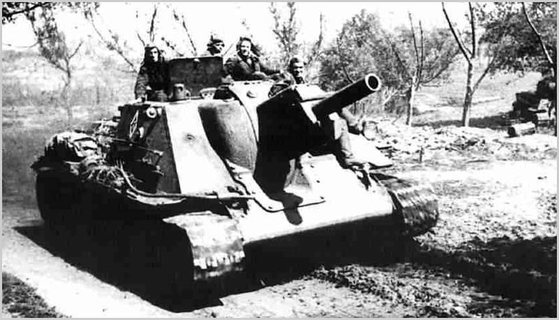 Panzerabwehrfähigkeiten der sowjetischen 122-mm-Artillerie-Montierungen mit Eigenantrieb