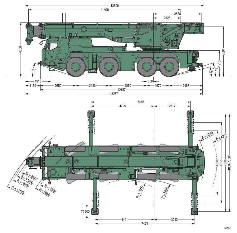 construction – the battle! Armored Liebherr cranes