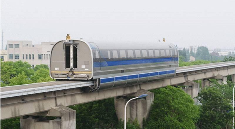 """Die verbesserte Version des """"Zuges"""" """"Maglev"""" in China überschritt eine Geschwindigkeit von 600 km / h"""