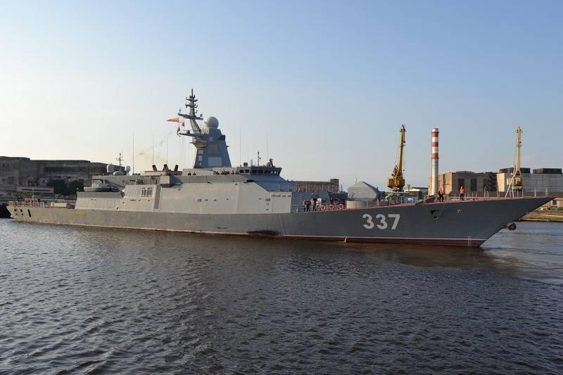 A corveta barulhenta voltou a Severnaya Verf