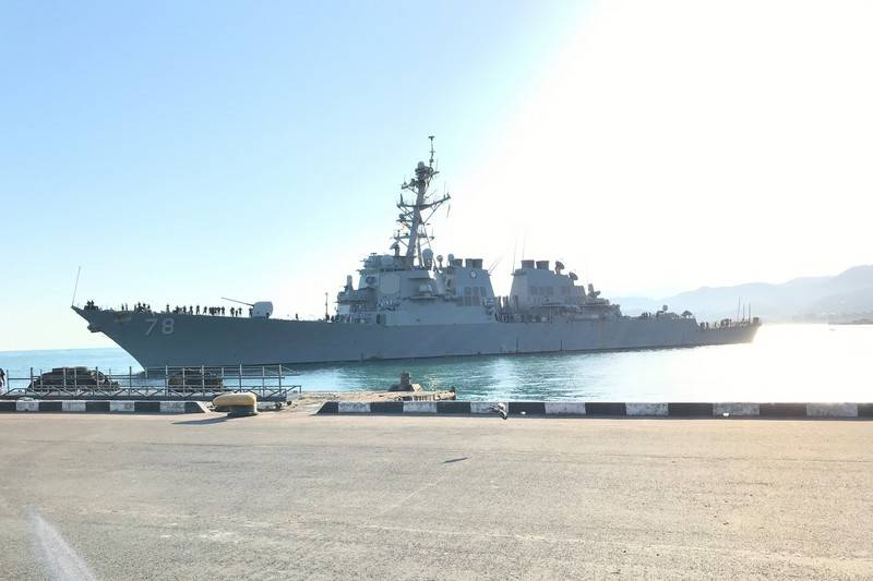 What is he looking for in a distant land: the American destroyer visited Batumi for the third time