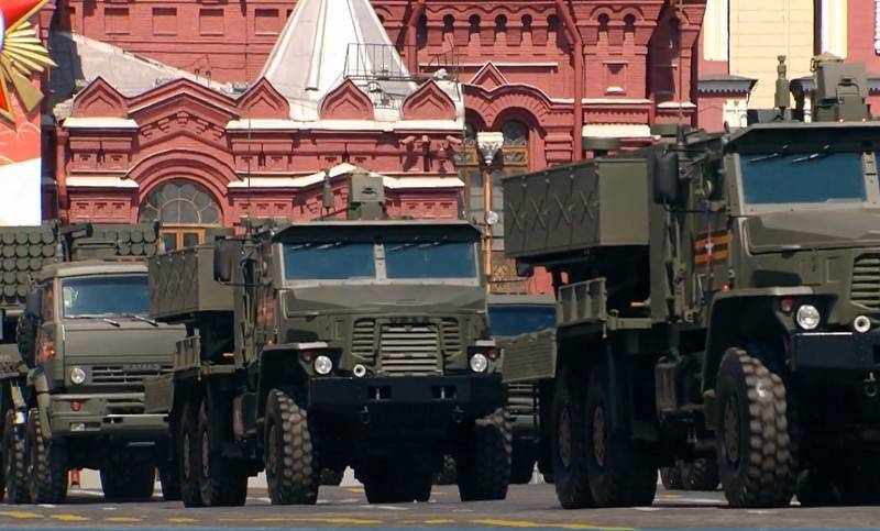 At the parade in Moscow for the first time showed 24 samples of new military equipment