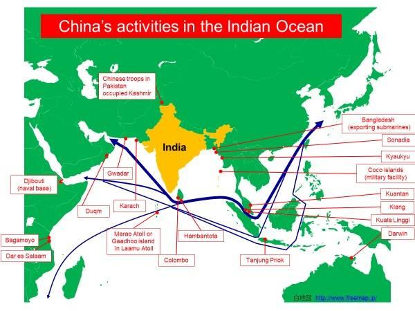 O Japão é o guardião da navegação no Oceano Índico