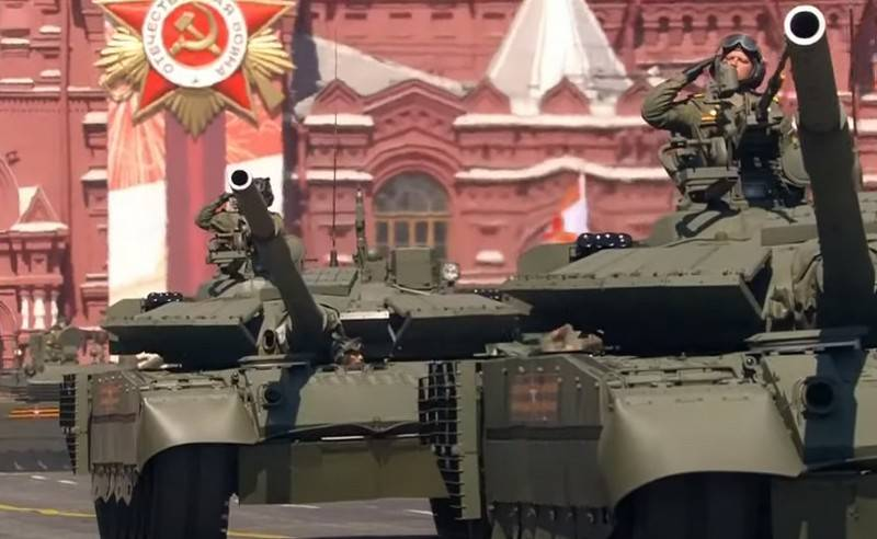 """T-90M, T-80BVM, TOS-2 and much more"": in China they admired the technology shown at the Victory Parade"