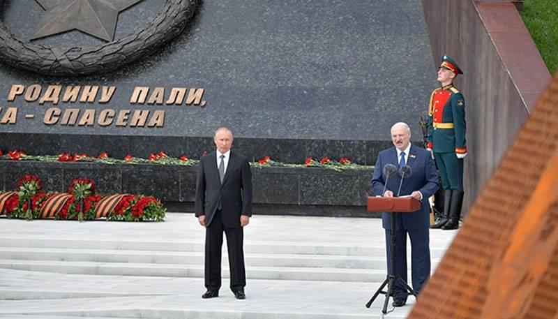 """""""Wir werden nicht zulassen, dass die Bedeutung des Großen Sieges gemindert wird"""": Putin und Lukaschenko nahmen an der Eröffnung des Rschew-Denkmals teil"""