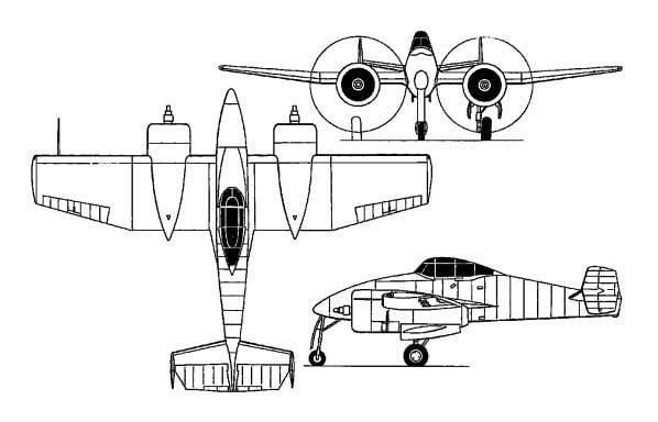 Experienced fighter Grumman XP-50 Skyrocket (USA)