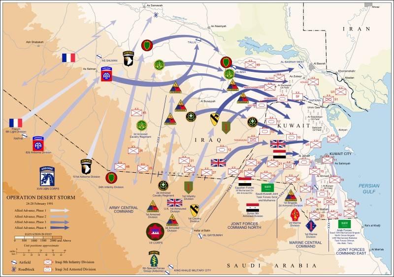 XX年末とXXI世紀初頭の外国軍の作戦