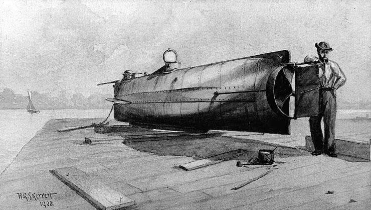 잠수함 HL Hunley. KSA의 비극적 경험
