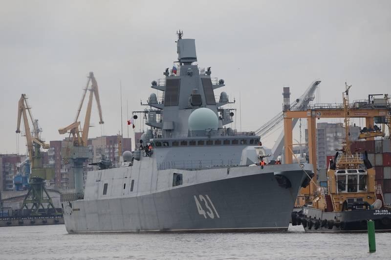 Ficou conhecido o momento da transferência para a frota da fragata do projeto 22350, almirante Kasatonov.
