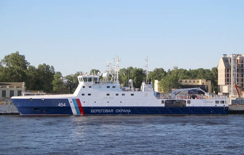 Russian border guards received the fifth patrol ship of project 22120