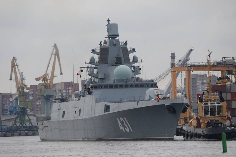 The first serial frigate of project 22350 Admiral Kasatonov transferred to the fleet