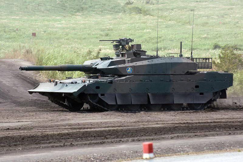L'armée japonaise a d'abord montré un char de type 10 à l'intérieur