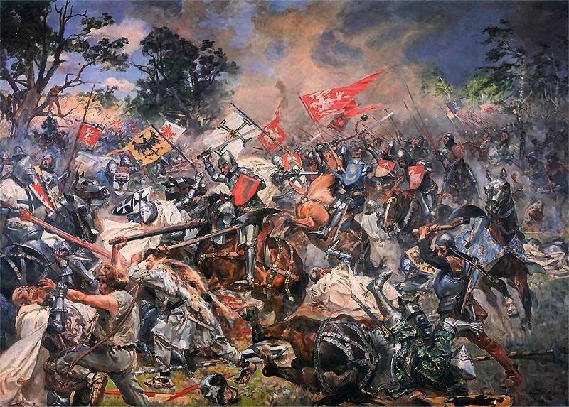 格伦瓦尔德战役。 条顿骑士团的军队是如何被摧毁的
