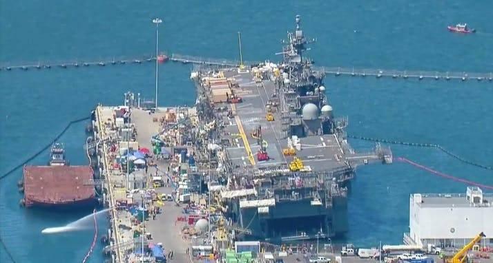 Bon Homme Richard UDCで発砲します。 溶接工対米国海軍