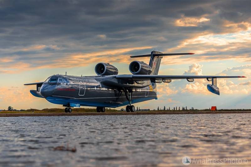 The first Be-200ES for the Ministry of Defense arrived in Yeysk