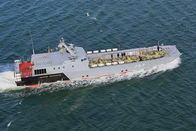"""Barcos na cavidade do ar """"Dugong"""": desembarque em um cheque surpresa"""