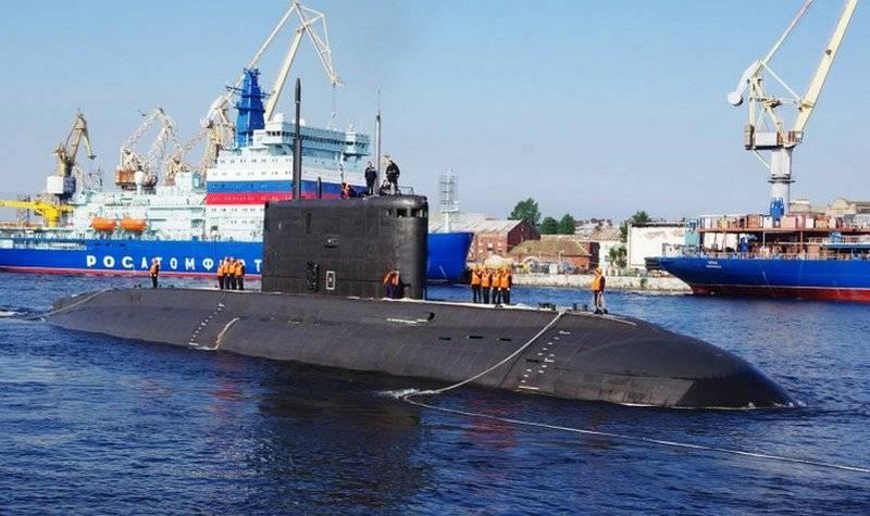 """太平洋舰队的第二艘"""" Varshavyanka""""号完成了工厂海上试验"""