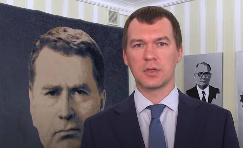 주지사의 의장에서 XNUMX 일 : Mikhail Degtyarev는 Furgal의 포위를 차지했다