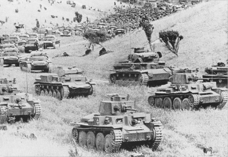 1941 년 XNUMX 월. 독일 전차와 전동 보병은 어디에 있습니까?