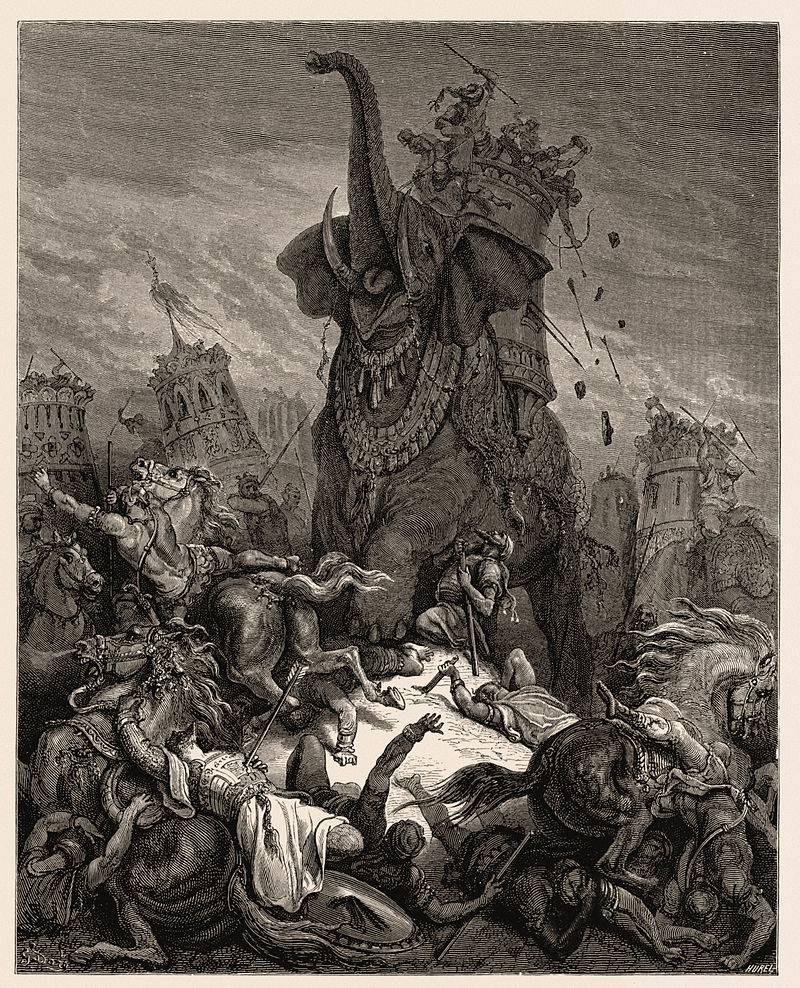 «Смерть Елиазера», рисунок для Библии Гюстава Доре 1866 г. Впечатляюще, но совершенно неисторично!