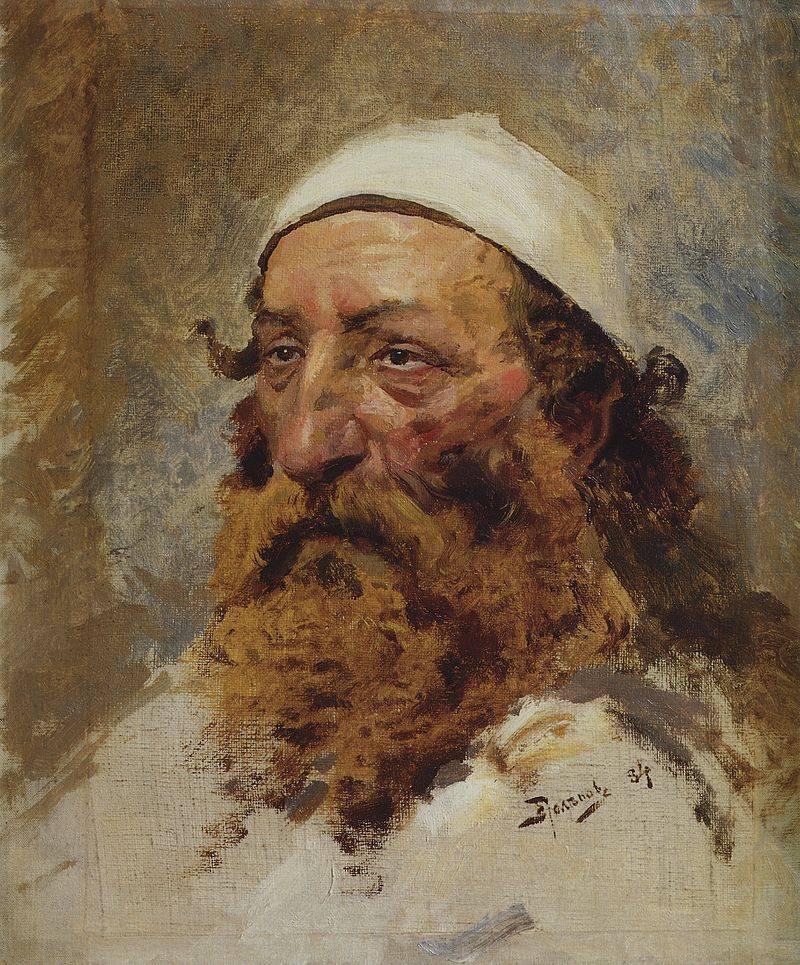 «Голова старого еврея». Василий Поленов. Эскиз к картине «Христос и грешница»