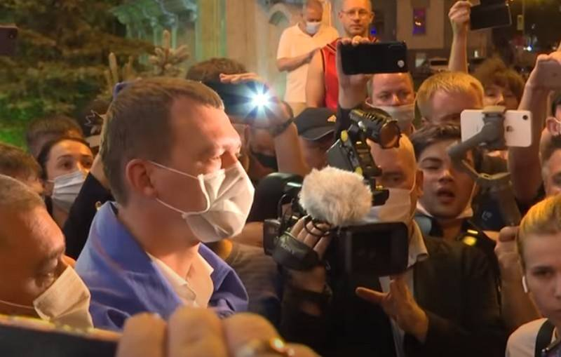 Khabarovsk said that Degtyarev communicated with dummies, and not with protesters