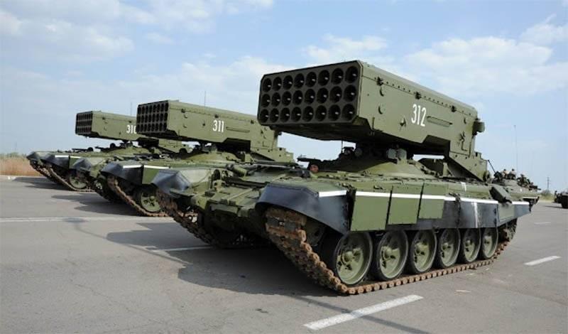 TOS-1A「Solntsepёk」が陸上機器の最も人気のあるXNUMXつのモデルに登場