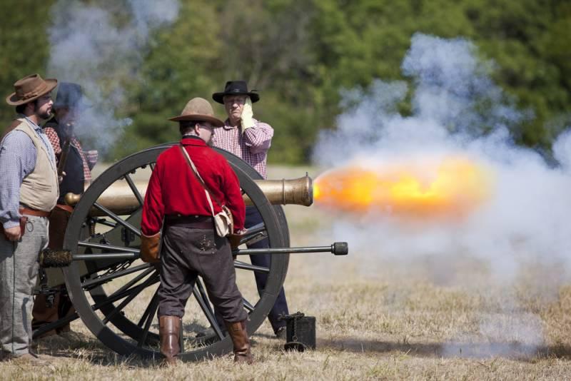 Север и Юг: пушки гладкоствольные и нарезные