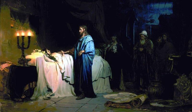 Немногое  нам даст и более поздняя живопись, изображающая древних иудеев. Картина  Ильи Репина «Воскрешение дочери Иаира». 1871 г. Русский музей