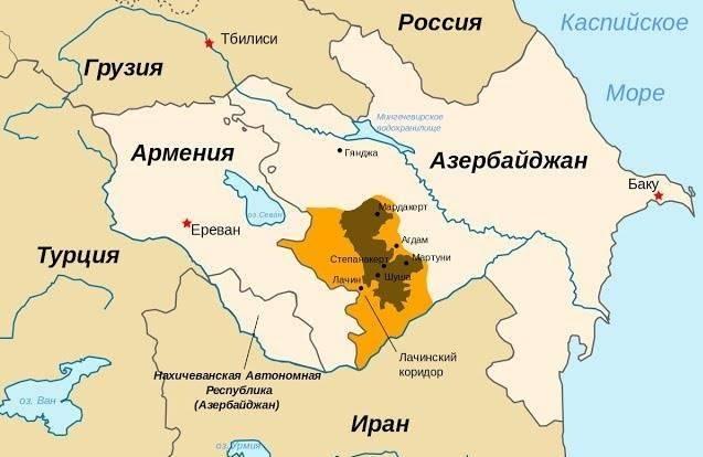 如果不是卡拉巴赫,那就是:在Transcaucasia共和国之间的边界上