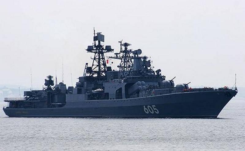 """Le BOD """"Amiral Levchenko"""" est en cours de modernisation à l'instar du même type """"Maréchal Shaposhnikov"""""""