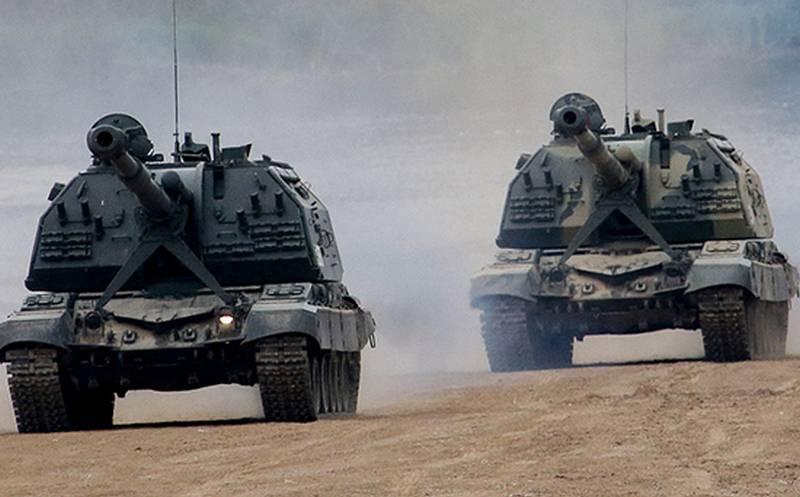 """आधुनिक ACS 2S19M2 """"Msta-S"""" का एक बैच रक्षा मंत्रालय को हस्तांतरित किया गया"""