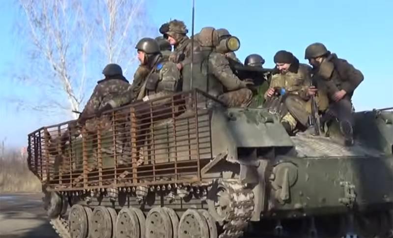 우크라이나 군대는 2014 년 전차와의 BMD 전투에 대해 언급했습니다.