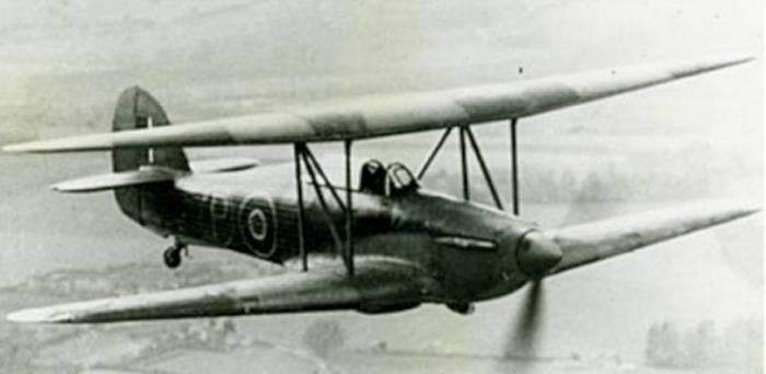 Экспериментальный самолет Hawker-Hillson FH.40 Hurricane (Великобритания)