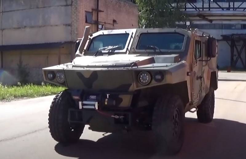 """A video of a new floating armored car """"Strela"""" appeared on the web"""