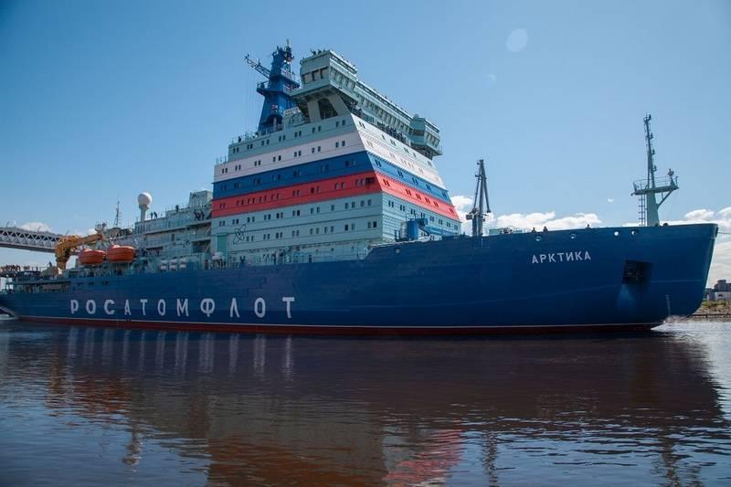 "USC는 핵 쇄빙선 ""Arktika""를 고객에게 양도하는 마감일을 발표했습니다"
