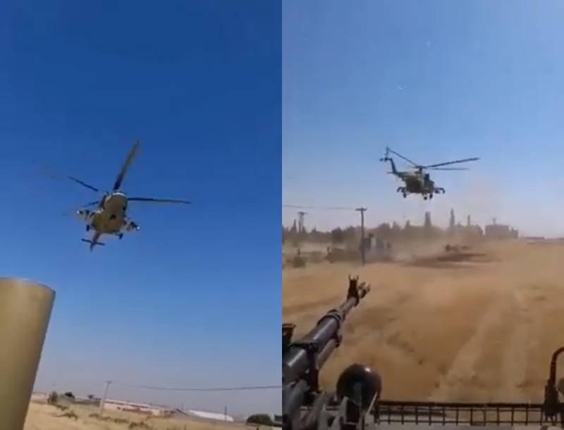 Der russische Hubschrauber in Syrien machte das amerikanische Militär nervös