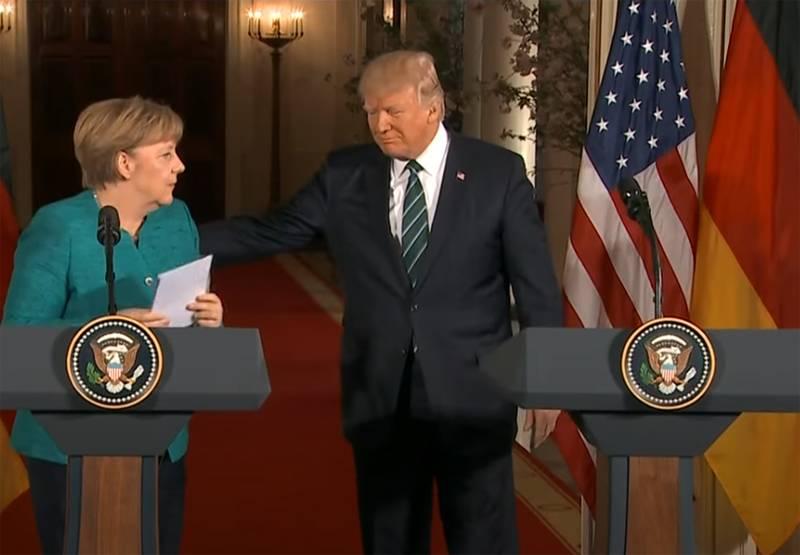 ABD Cumhuriyetçi kongresinde: Başkan Trump, Almanya Başbakanı Merkel'i tuzağa düşürdü