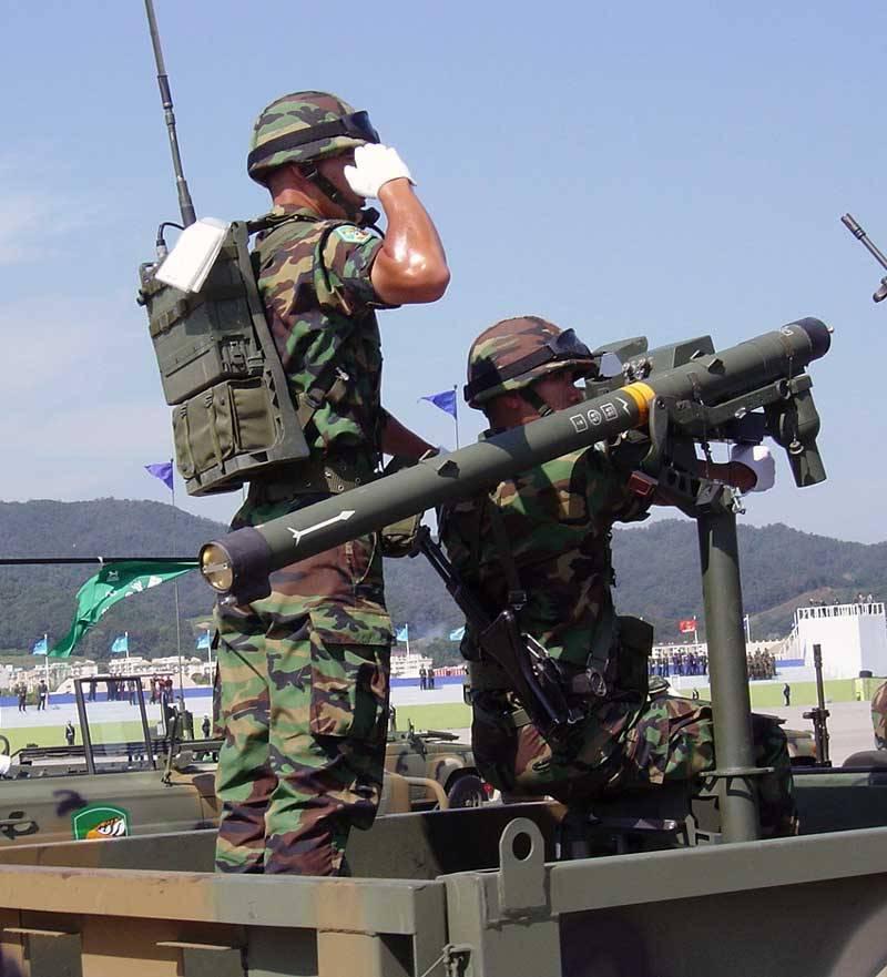 Южнокорейские ПЗРК и мобильные ЗРК малой дальности