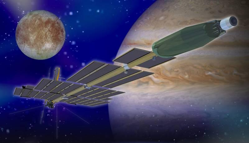 Предполагаемый облик системы Prometheus в конфигурации для полета к Юпитеру. Фото NASA