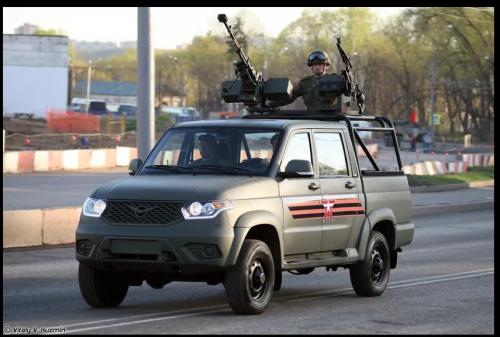 Coleta UAZ com DShK e PKM