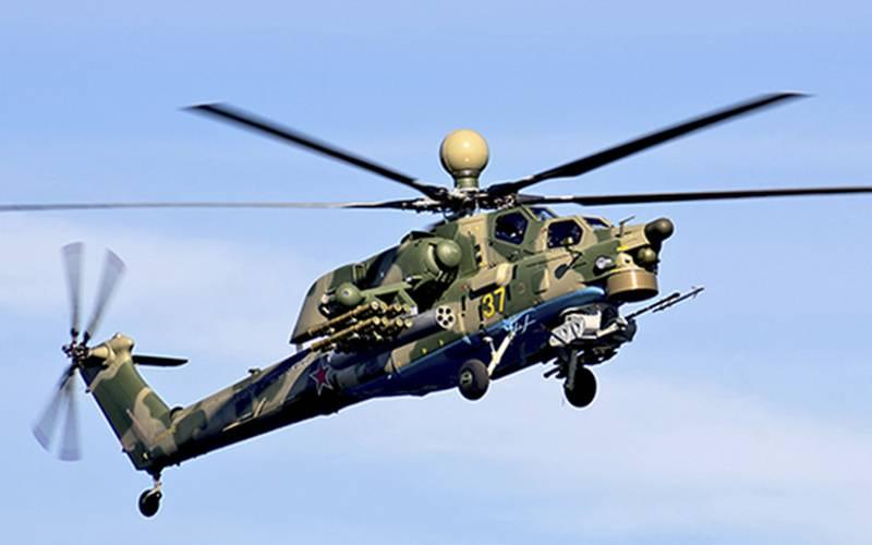 战斗训练Mi-28UB进入南部军区的陆军航空团